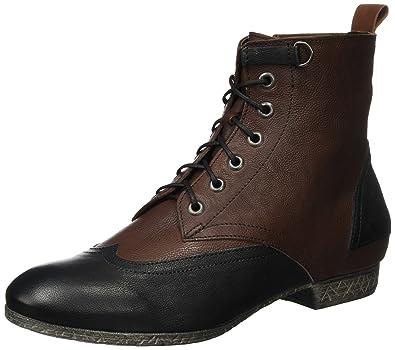 Think! Womens Ebbs Desert Boots Brown (Espresso/Kombi 42) 8 UK