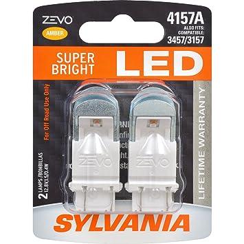 SYLVANIA ZEVO 4157 Amber LED Bulb, (Contains 2 Bulbs)