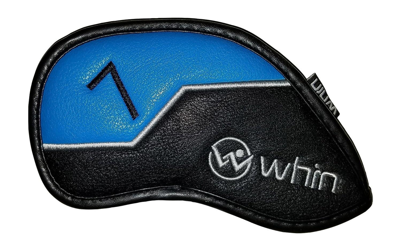 プレミアムゴルフクラブアイアンヘッドカバー3 by Whinスポーツ(シングル) B076HZT589 7-Iron - Blue 7Iron  Blue