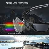 TOREGE Polarized Sports Sunglasses for Men Women