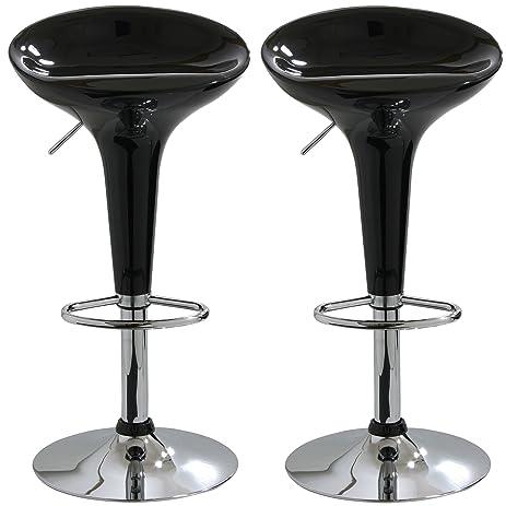 amerihome bs103blkset adjustable height bar stool set of 2