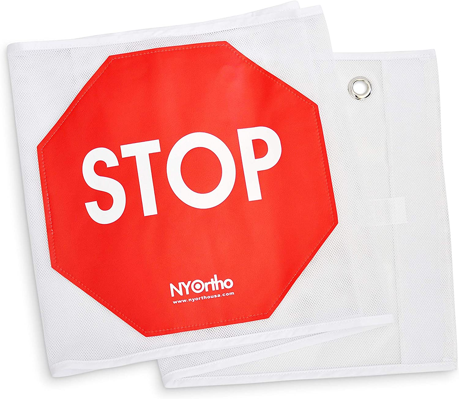 NYOrtho Door Guard Stop Sign Banner Alarm Size: 48 W Stop Sign Strip
