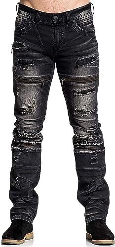 Affliction Gage Fallen Jasper 110SK059 New Skinny Leg Fit Denim Jeans for Men