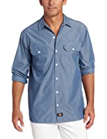 Dickies Men's Big Long Sleeve Chambray Shirt Tall
