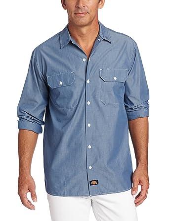 56a904b43e Amazon.com  Dickies Men s Long Sleeve Chambray Shirt Big-Tall  Clothing
