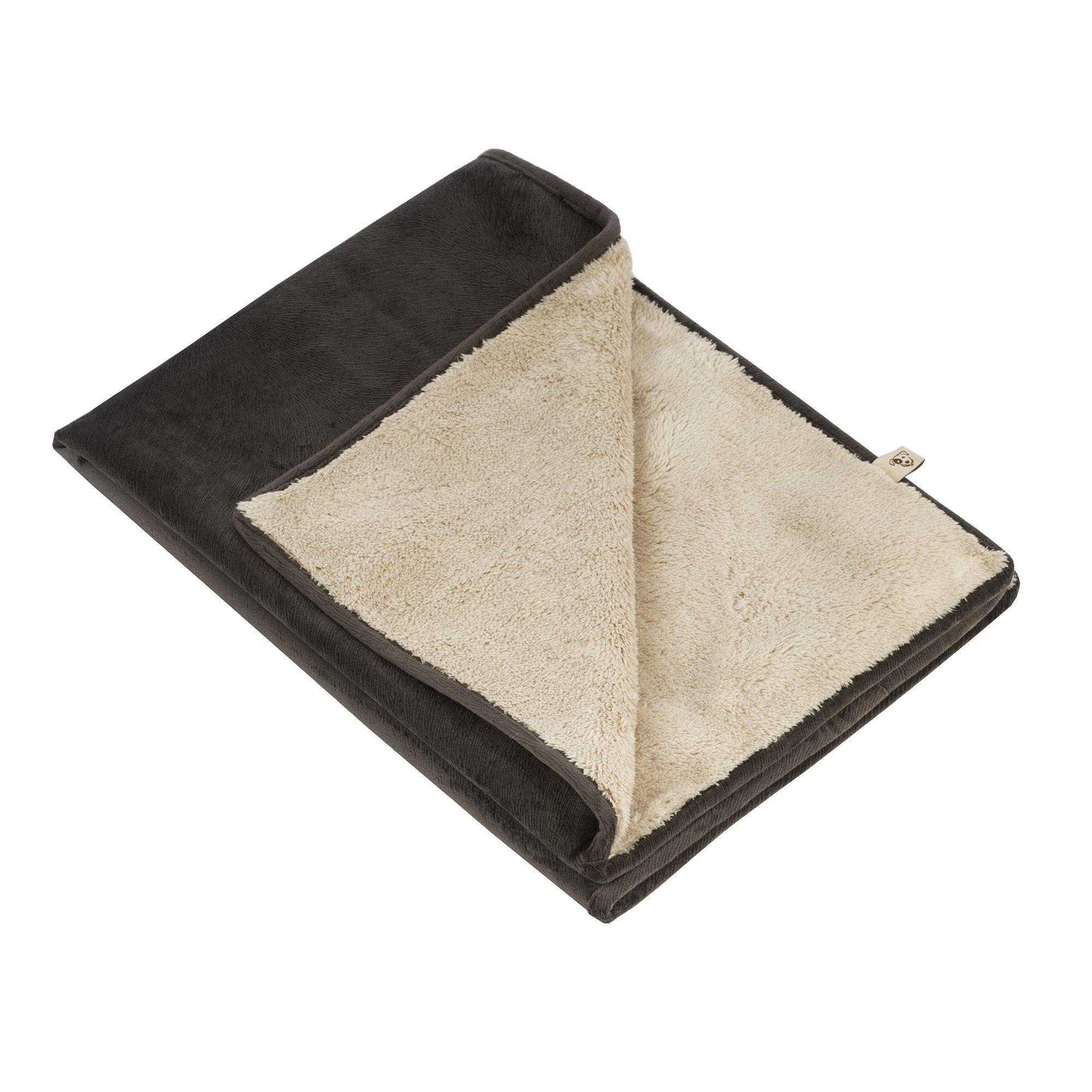 Jax and Bones Coal Fur Velour Standard Pet Blanket, Small