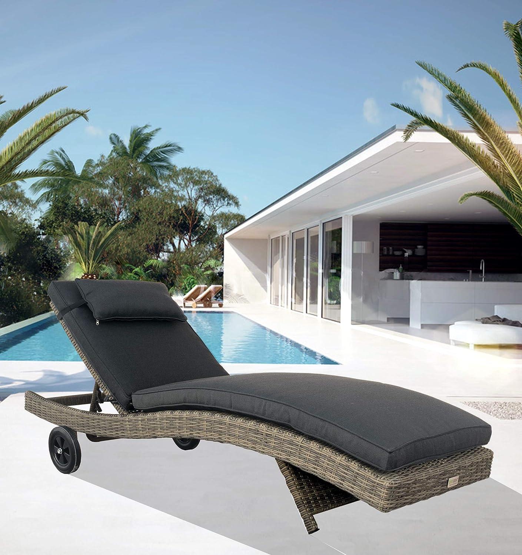 LuxuryGarden – Tumbona De Jardín Piscina Exterior en Rattan ...