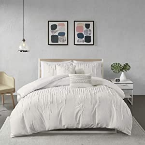 Urban Habitat Paloma Cotton Comforter Set, Full/Queen, Grey