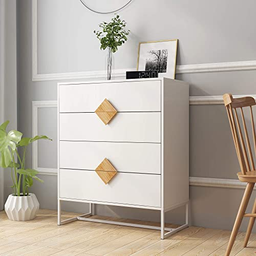 Goujxcy 4 Drawers Dresser