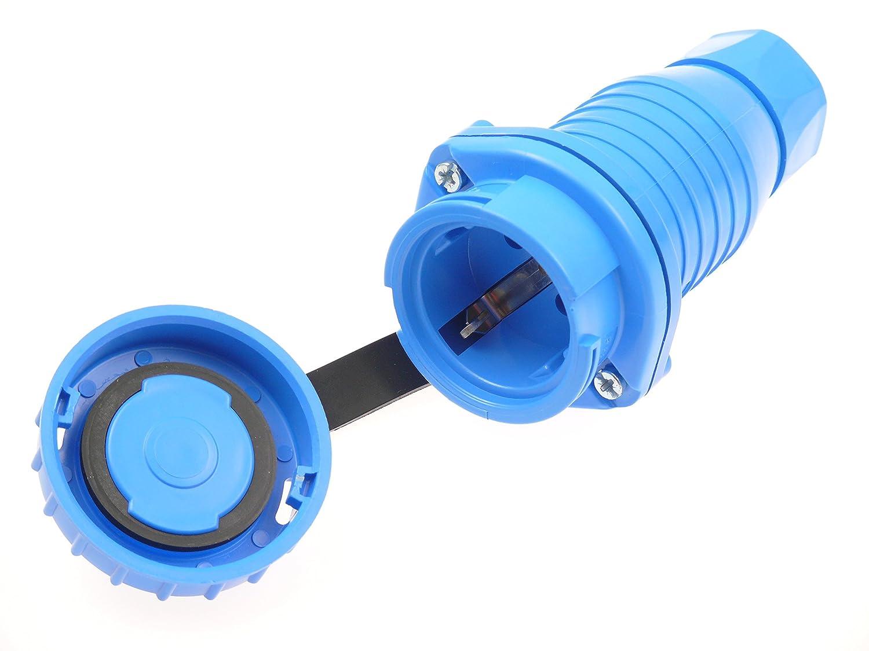 Schuko Verl/ängerungskabel Druckwasserdicht H07RN-F 3G1,5 3x1,5 IP68 50m