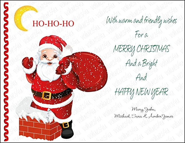 personalized christmas card1006 digital print your own or printed packs of