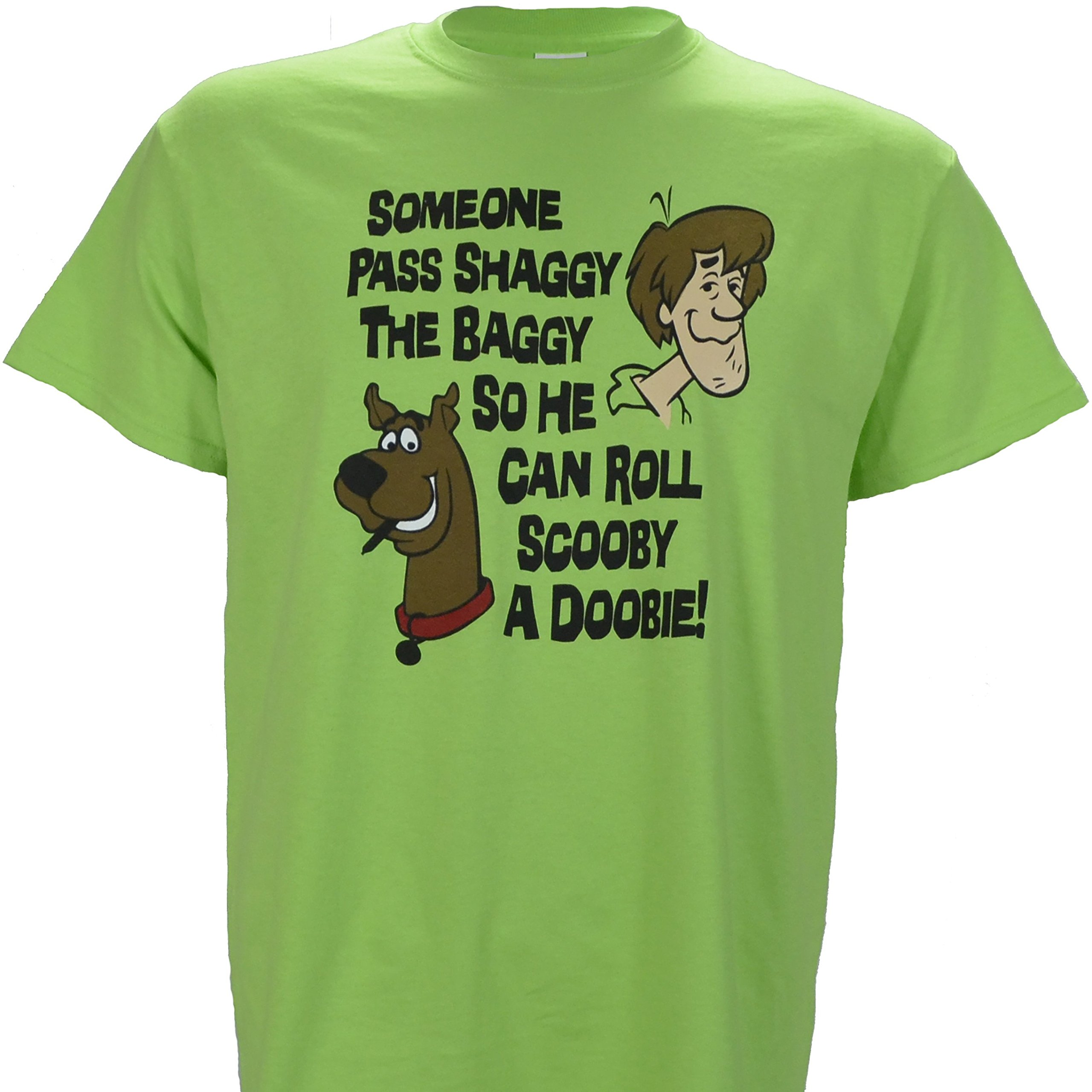Someone Pass Shaggy The Baggy so He Can Roll Scooby a Doobie on Green Shirt