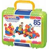 Bristle Blocks Toy Building Blocks for Toddlers (85 Pieces in Case)