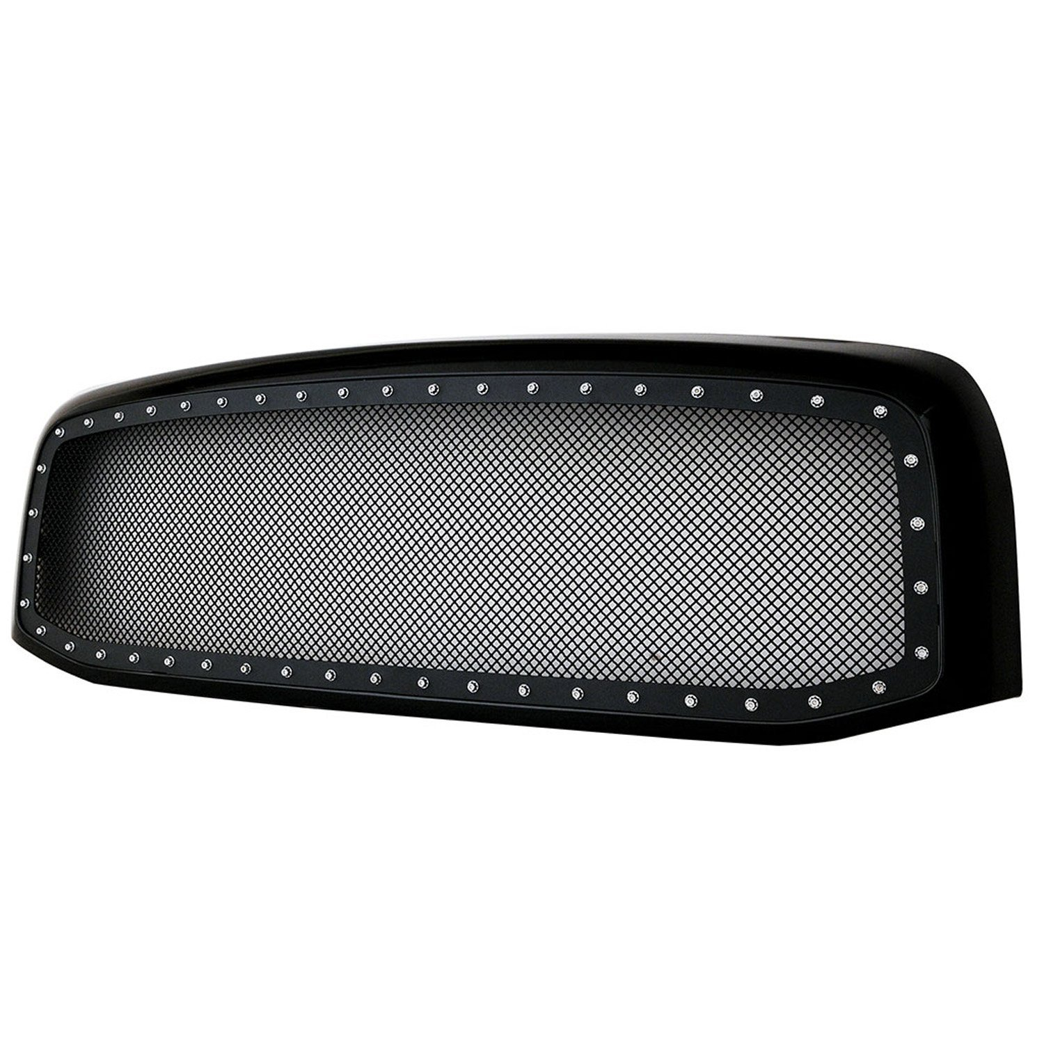 Paramount Restyling 46-0212 Evolution Black Stainless Steel Wire Mesh Packaged Grille 1 Piece