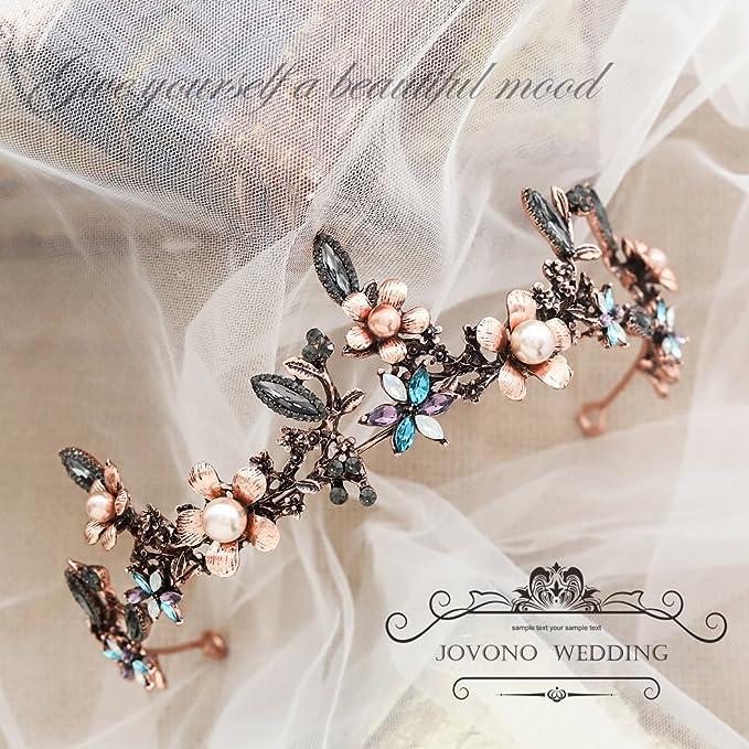 Diadema para boda  estilo corona barroca - Diadema vintage de princesa para novia.