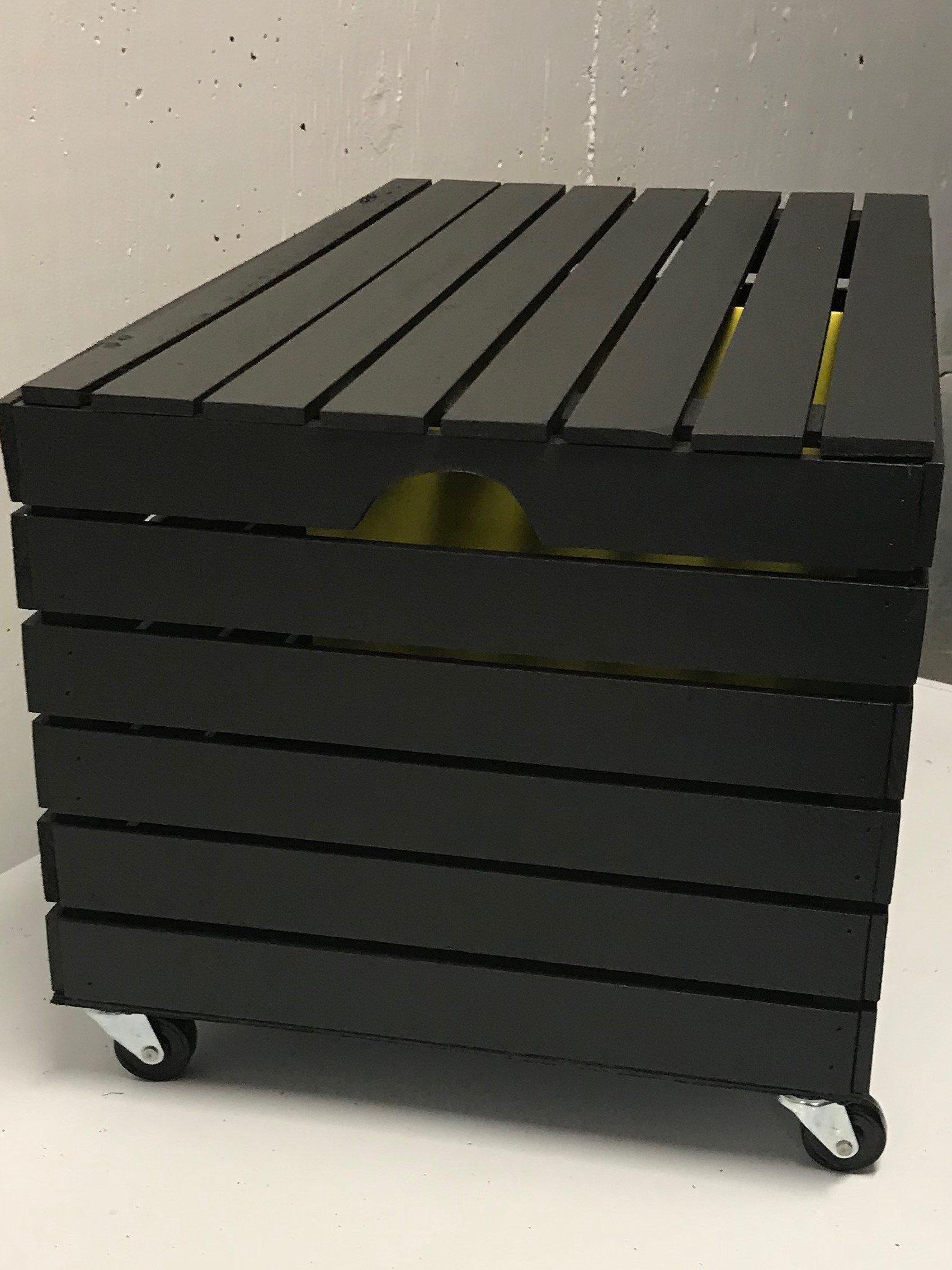 At Home On Main File Cabinet/Decorative Storage Box (Black Onyx)