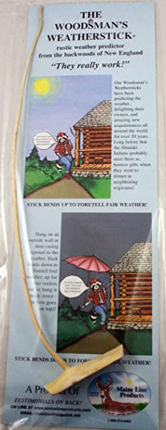 Amazon.com: Weather Forecasting Woodsman's Weatherstick: Toys & Games