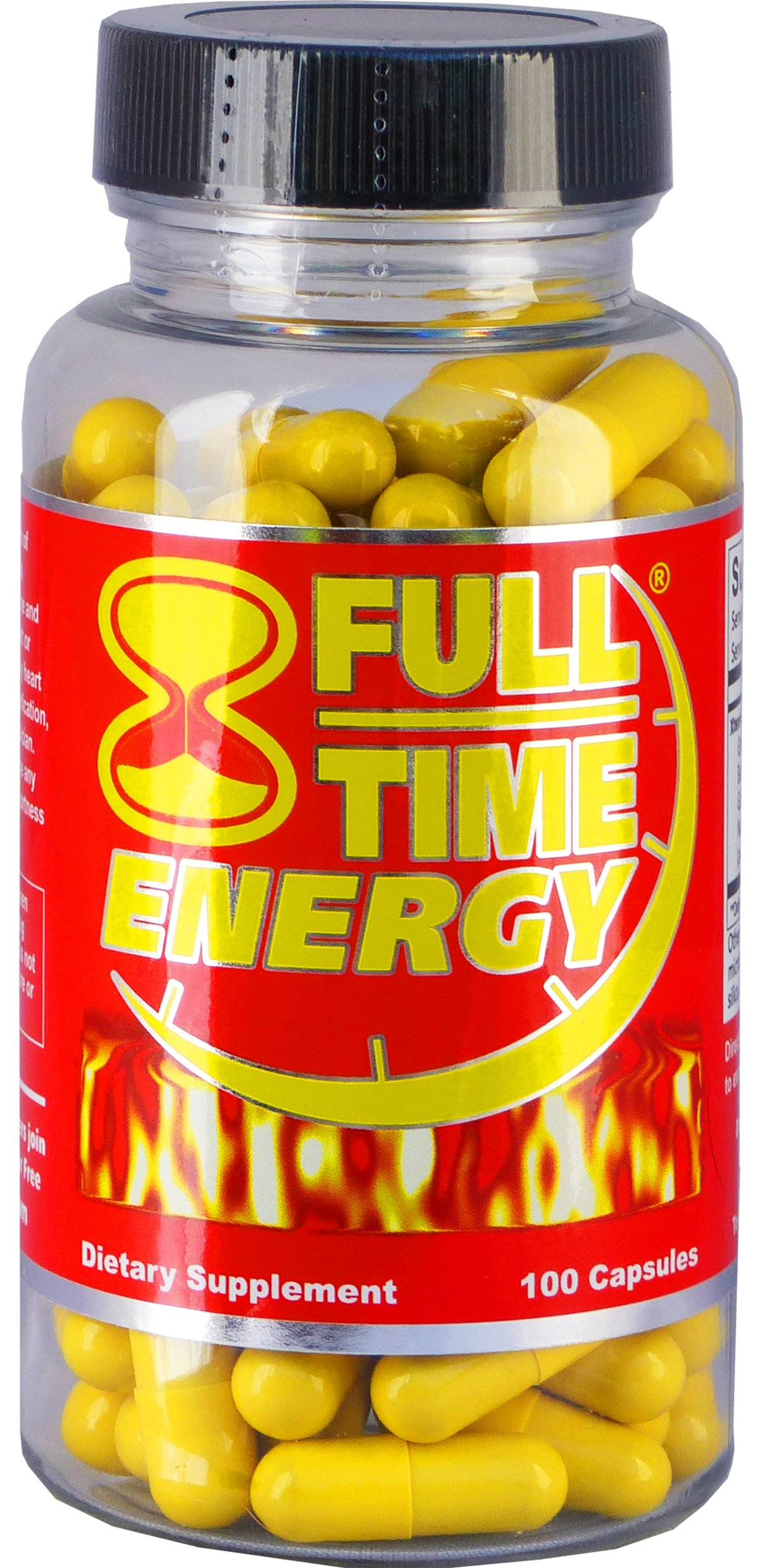 Full-Time Energy Pills 100 Capsules Silver - Best Energy Boosters for Men and Women by Full Time