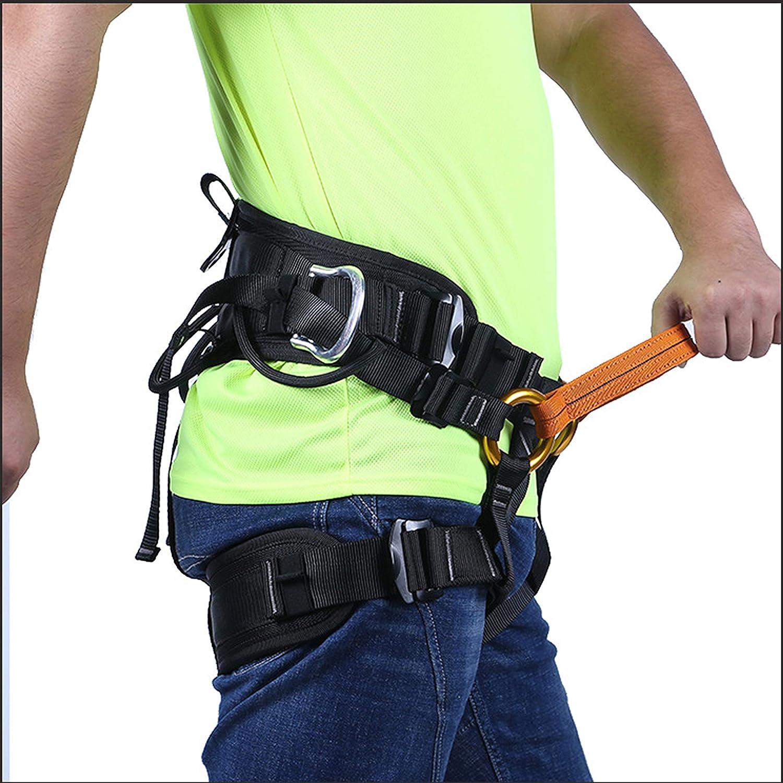 Suntime Arn/és de Seguridad de Escalada para Hombre Mujer Alpinismo Cuerda Equipo Escalada Ajustable Al Aire Libre Rappel Cintur/ón Seguridad de Rescate para Trabajo Trekking Senderismo Rappelling