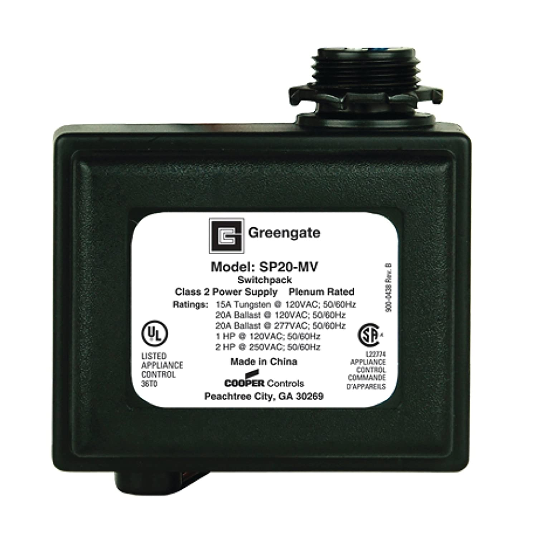 Cooper Greengate Switchpack lighting control SP20-MV 120//277 Volt 20A