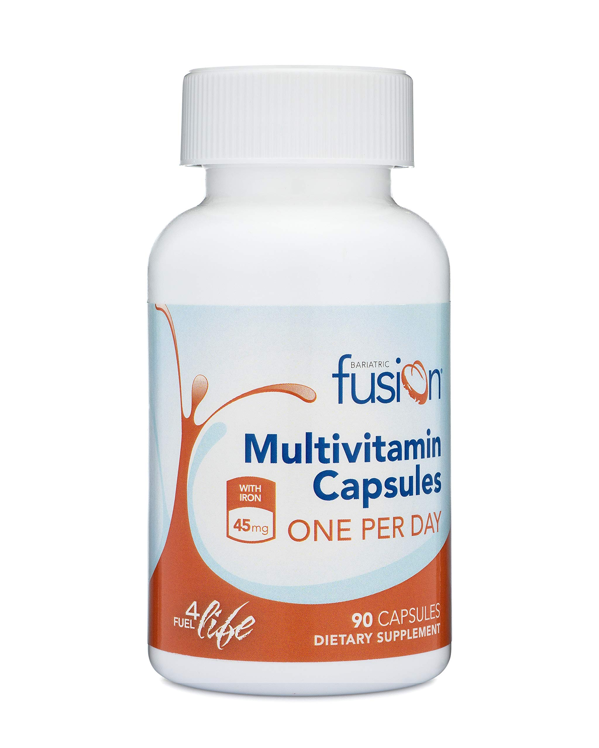 Bariatric Fusion Bariatric Multivitamin ONE per Day Capsule with 45mg of Iron for Post Bariatric Surgery Patients Including Gastric Bypass and Sleeve Gastrectomy, 90 Count, 3 Month Supply by Bariatric Fusion