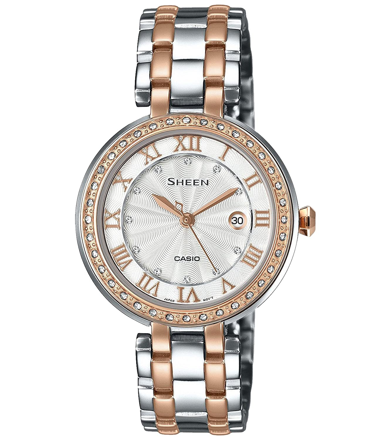 Buy Casio Sheen Analog Silver Dial Womens Watch She 4034bsg 7audr Edifice Efr546bkg1av Sx156 Online At Low Prices In India