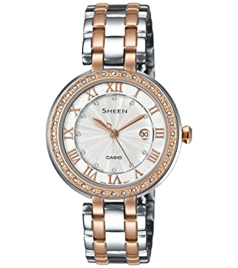 huge selection of 9e2a9 c8db5 Casio Sheen Analog Silver Dial Women's Watch - SHE-4034BSG-7AUDR (SX156)