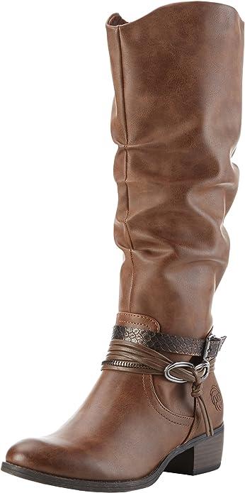 Marco Tozzi 25531, femmes bottes longues, Marron (Cognac Ant