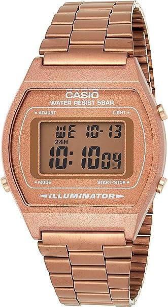 Orologio Casio digitale unisex, con cinturino in acciaio inox B640WC-5AEF