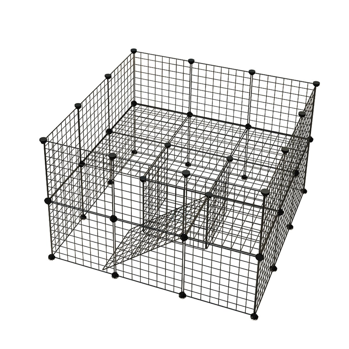 JYYG Small Pet Pen Bunny Cage Dogs Playpen Indoor Out Door Animal Fence Puppy Guinea Pigs, Dwarf Rabbits PET-F (36 Panels, Black)