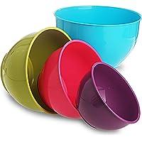 All Time Plastics Classic Mixing Bowl Set, 4-Pieces, Multicolour