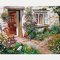 Reofrey 5D Pintura Diamante Pintura Al óleo Jardín