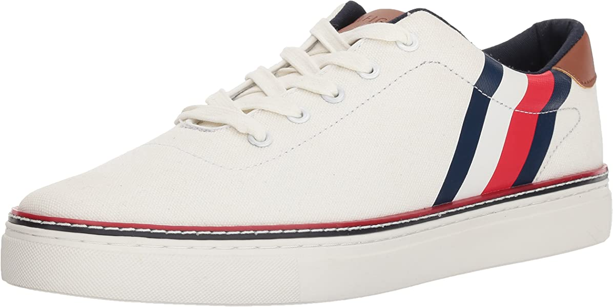 promo code db38d 5de7e Tommy Hilfiger Men s MAVEN Shoe, white, 10 Medium US