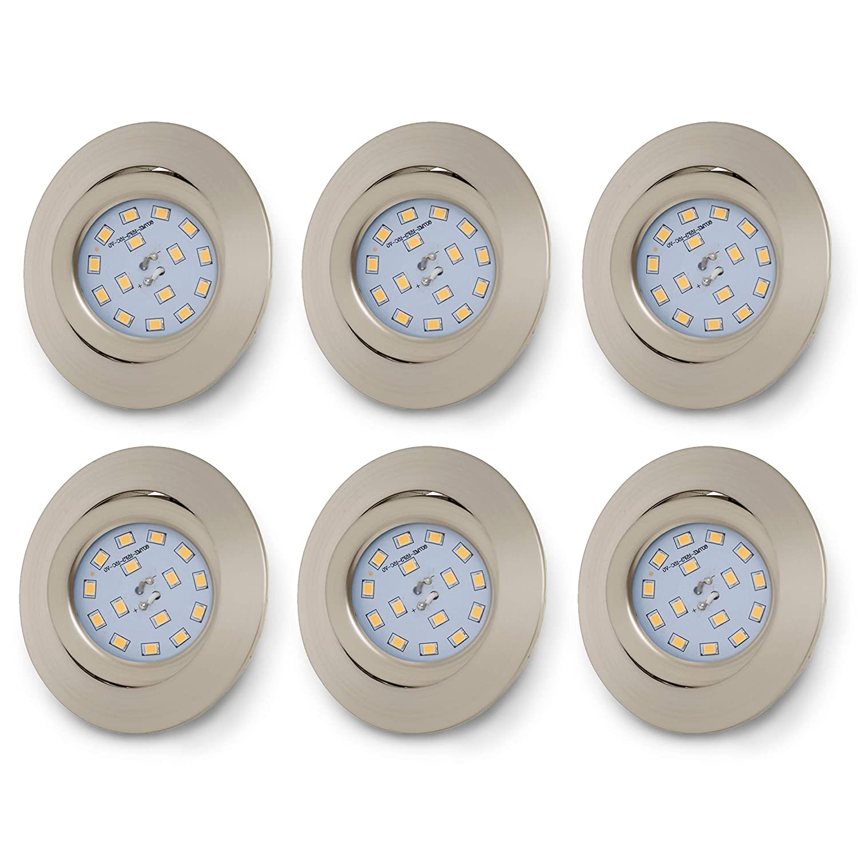 orientables B.K blanc chaud /éclairage encastr/é LED int/érieur 230V plafonnier design Licht lot de 6 spots LED encastrables ultra-plats IP23 6x5W