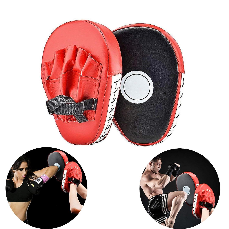 1 par Almohadillas de Boxeo Objetivos a Mano Manoplas de Boxeo Paos de Boxeo para Kick Boxing Muay Thai MMA-Almohadillas Entrenamiento