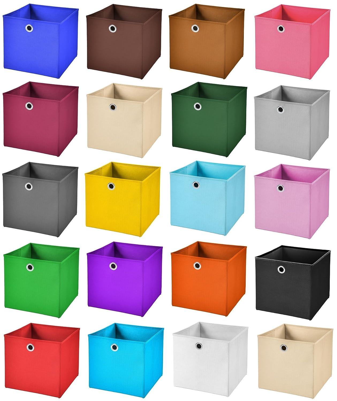 Stick/&Shine 1x Aufbewahrungs Korb Orange Faltbox 33 x 33 x 33 cm Regalkorb faltbar mit Deckel