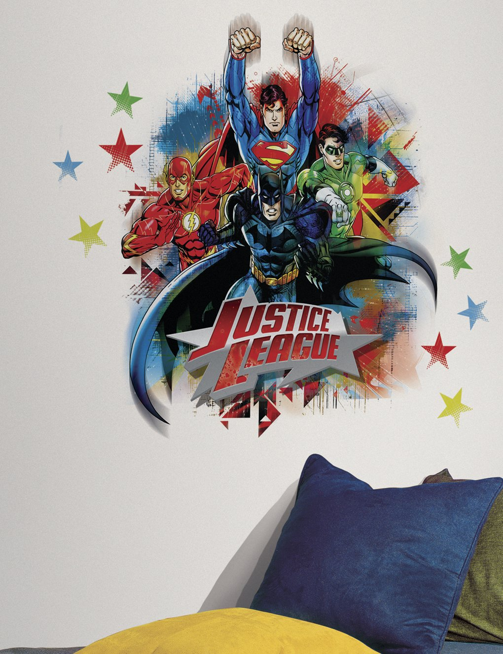 Amazon roommates rmk2165gm justice league peel and stick amazon roommates rmk2165gm justice league peel and stick giant wall decals home improvement amipublicfo Images