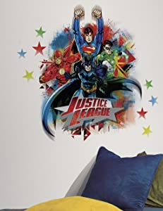 RoomMates Justice League Peel and Stick Giant Wall Decals