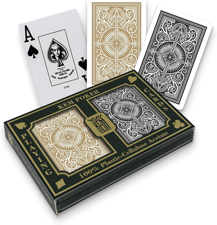 2 pack KEM deck 100/% Plastic ARROW NARROW BRIDGE JUMBO Index Playing Cards