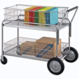 Deluxe Mail/Office File Cart, 250 Lb. Capacity