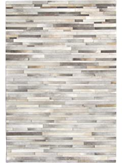 New Cowhide Rug Leather. Animal Skin Patchwork Area Carpet (6 X 8)