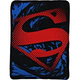"Superman ""Super Rip Shield"" Character Fleece Blanket, 45 x 60-inches"