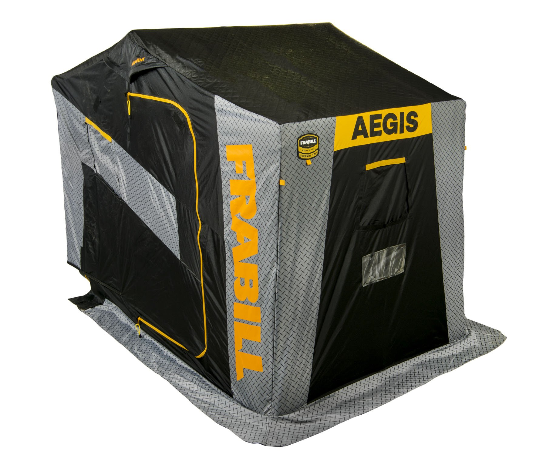 Frabill Aegis 2415 Top Insulated Flip-Over Shelter, Black/Gray by Frabill