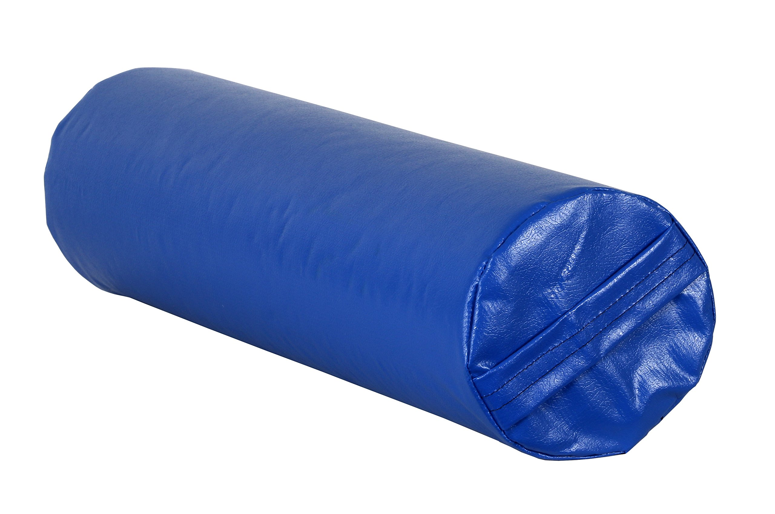CanDo 31-2011S Positioning Roll, Foam with Vinyl Cover, Soft, 24'' x 6'' Diameter, Blue