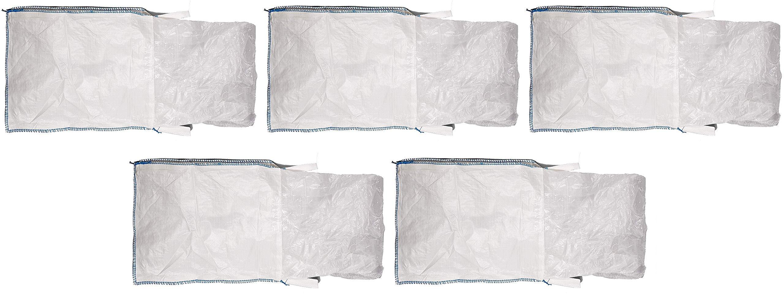 Mutual 14981 Polypropylene Bulk Bag, 3000 lbs Capacity, 3' Length x 3' Width x 3' Height (Вundlе оf Fіvе) by Mutual Industries
