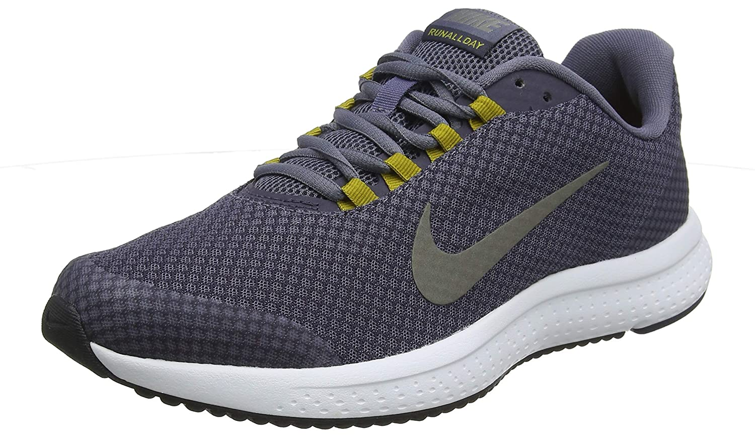 1eb87a75a9573 NIKE Men s RUNALLDAY Light Carbon MTLC Pewter-Gridiron Running Shoes  (898464-017)  Buy Online at Low Prices in India - Amazon.in