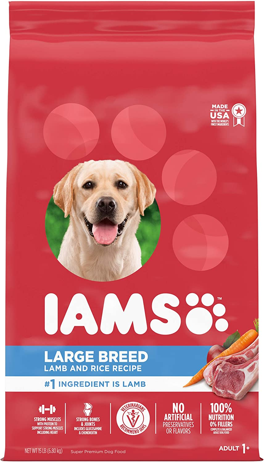 Iams Proactive Health Adult High Protein Large Breed Dry Dog Food with Real Chicken, 38.5 lb. Bag