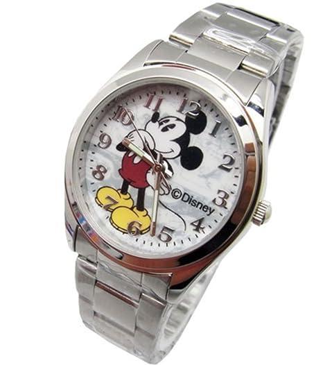 """Disney – Reloj unisex de Mickey Mouse Vintage. """"analógica pantalla grande. brilla"""