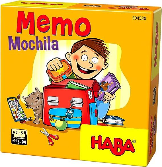 HABA- Juego de Mesa, Memo Mochila, Multicolor (Habermass H304530 ...