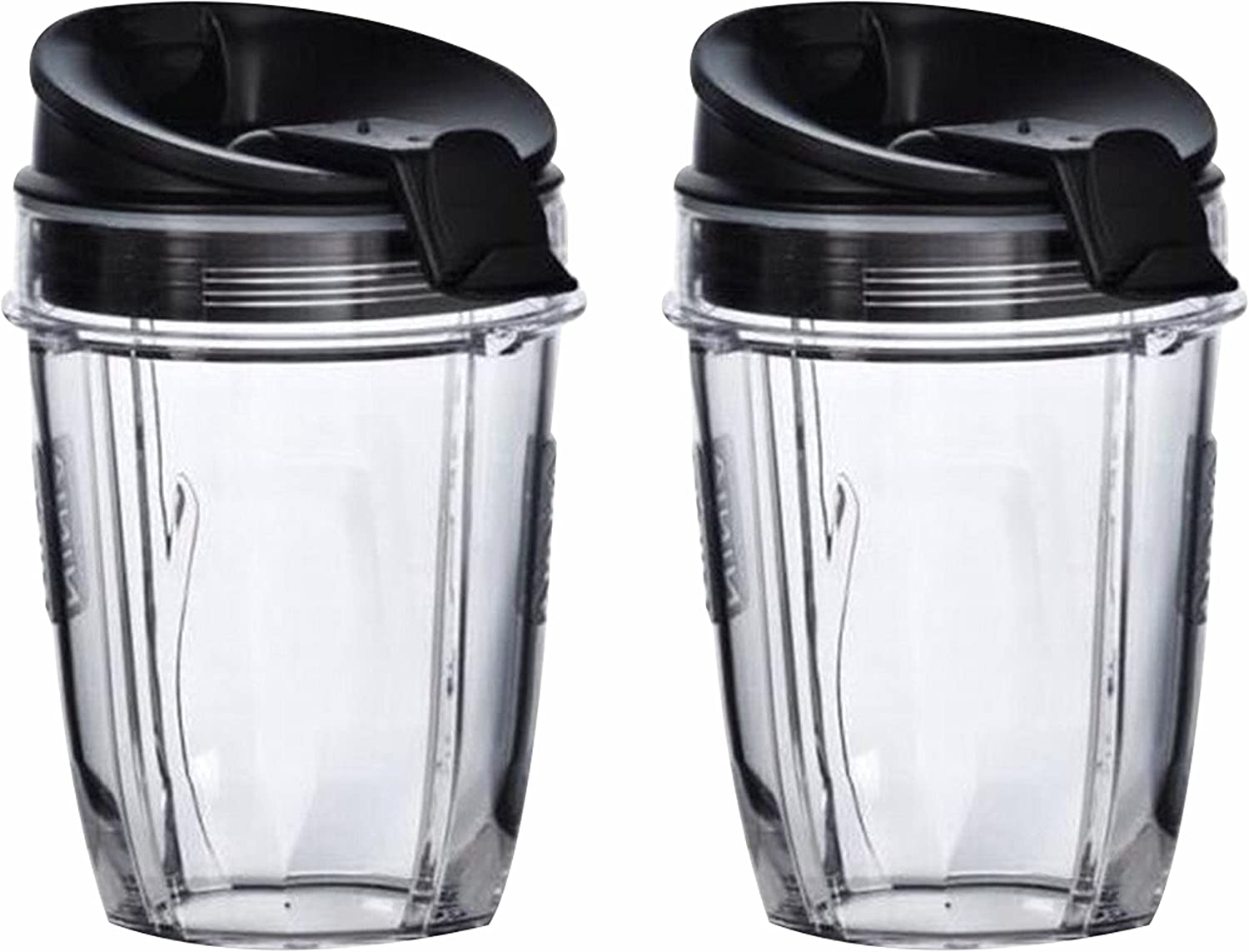 Nutri Ninja Cups   18-Once Tritan Cups with Sip & Seal Lids. Compatible with BL480, BL490, BL640, & BL680 Auto IQ Series Blenders (Pack of 2)